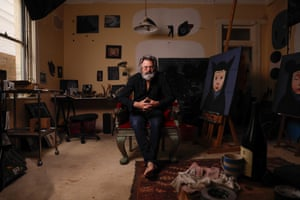 Paul McDermott in his studio at his home in Bondi.