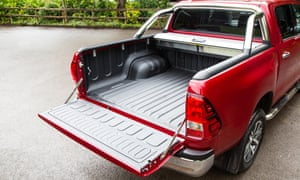 Full capacity: the Hilux's huge load bay.