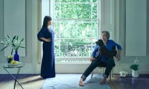 Plaxy and Giorgio Locatelli at their home in London.
