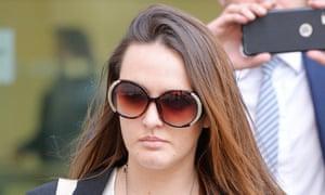 Caroline Westlake, 30, leaves Westminster magistrates court