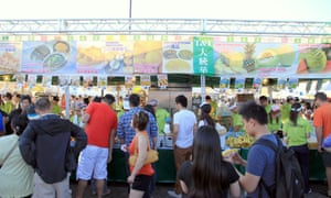 An Asian food festival in Downtown Toronto
