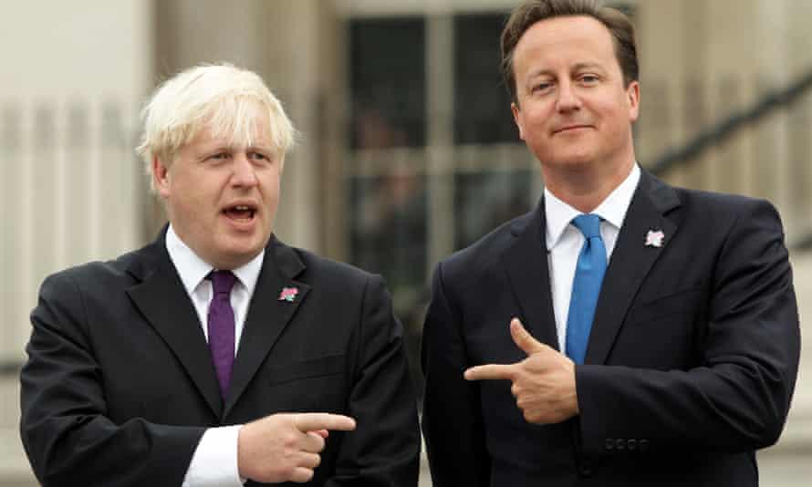 Boris Johnson (left) with David Cameron in 2012.