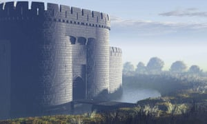 An artist's impression of what Sheffield Castle is believed to have looked like