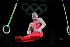 Nile Wilson on the rings.