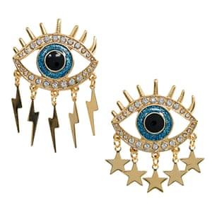 Eye earrings, £8, asos.com