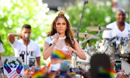 Jennifer Lopez also used the hashtag in a photograph posted on Instagram on Monday.