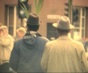 A still of Shoreditch, east London, from Steve McQueen's film Exodus, 1992-1997.