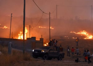 Fires blaze all around at La Candelaria, in Cordoba province, Argentina, 30 September 2020