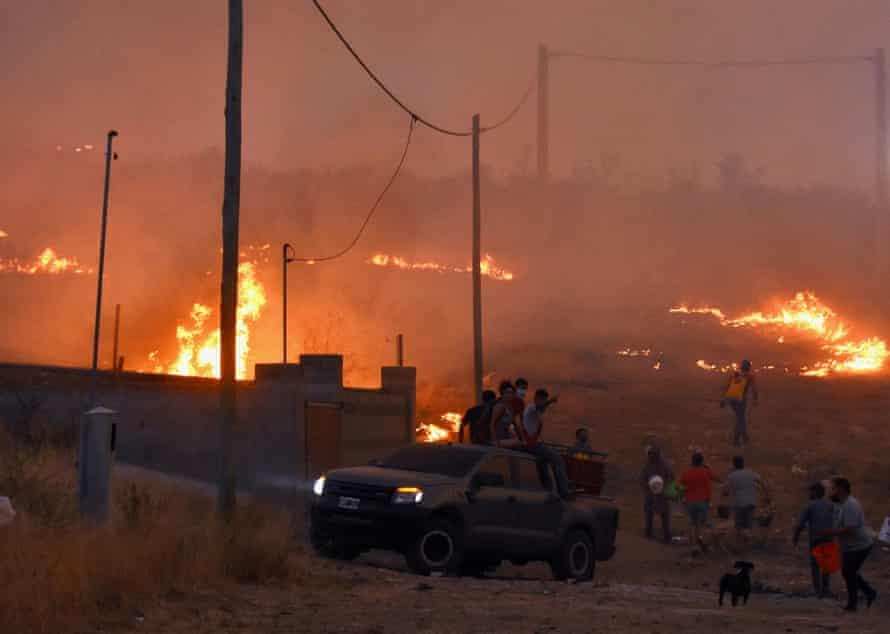 Fires blaze all around at La Candelaria, in Córdoba province, Argentina, 30 September 2020