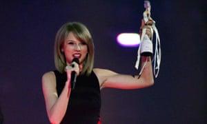 Triumphant … best international female solo artist Taylor Swift.