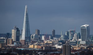 The Shard in London towers over its neighbours