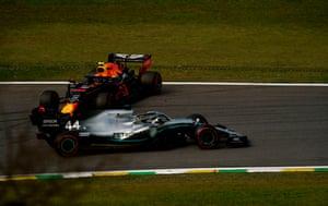 Hamilton and Albon crash.