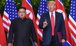 Donald Trump and Kim Jong-un meet in Singapore, where the US president said repatriation was discussed.