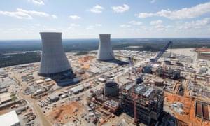 Vogtle nuclear plant, being built near Waynesboro in Georgia