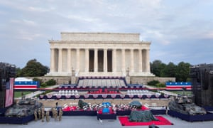 Preparations at the Lincoln Memorial