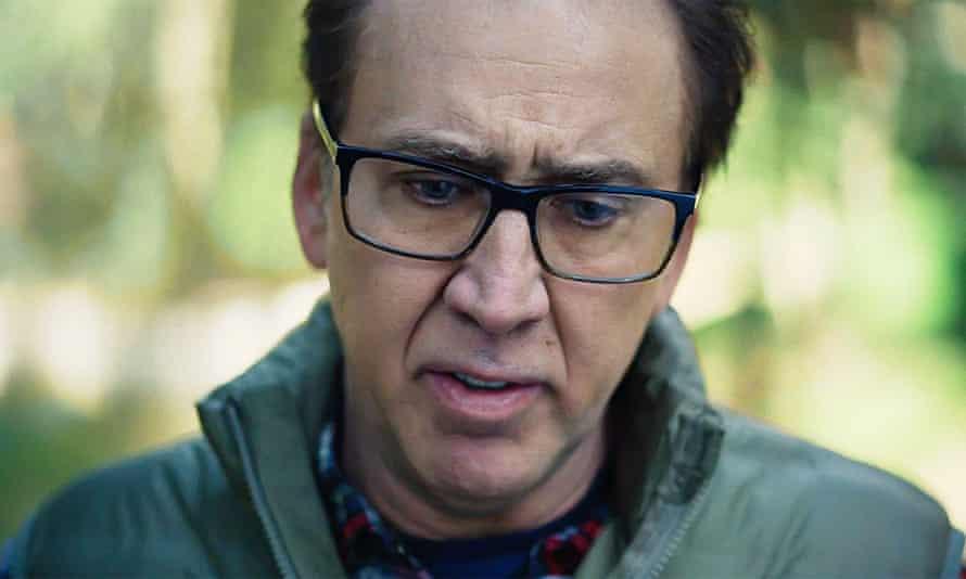 Nicolas Cage en Color Out of Space, una película sobre una granja golpeada por un extraño meteoro