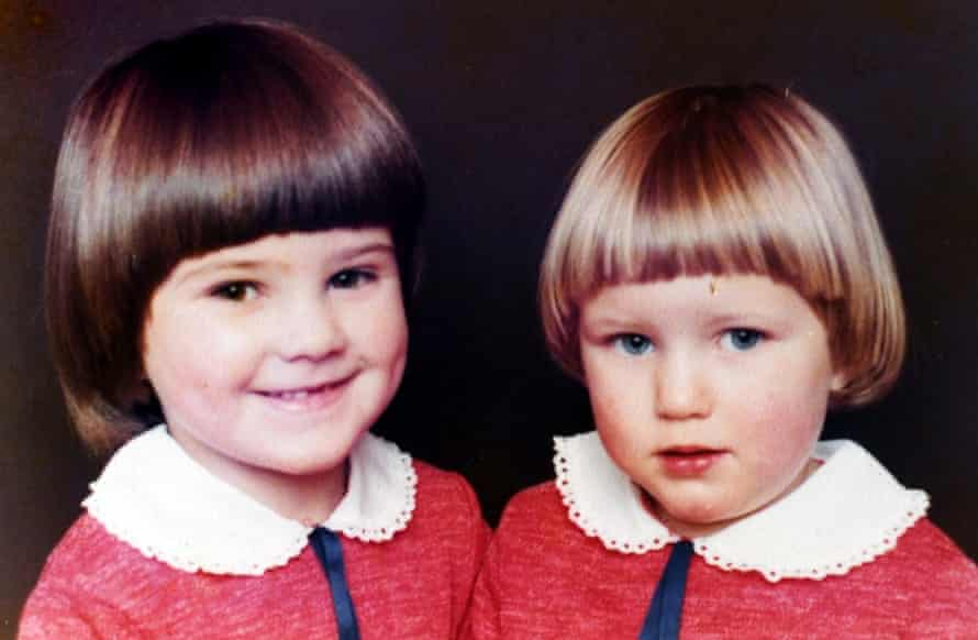 Sisters Jo Cox and Kim Leadbeater as children