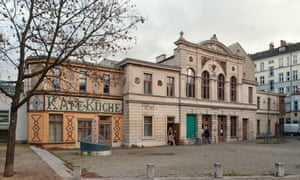 Exterior shot of the neo-baroque building that is now the Luisenbad library in north Berlin.