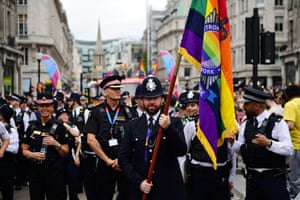 Members of the Metropolitan LGBT Police Network in the parade