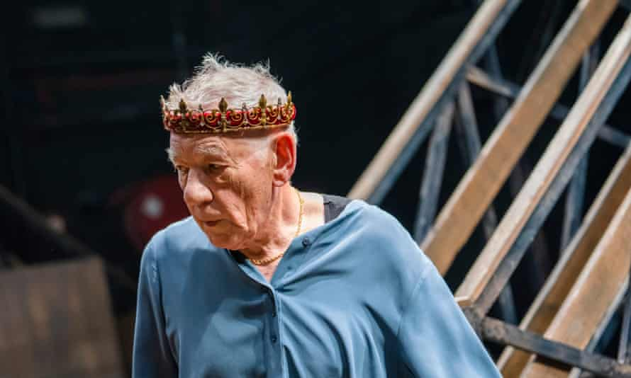 Sir Ian McKellen in the lead role of Hamlet at the Theatre Royal Windsor