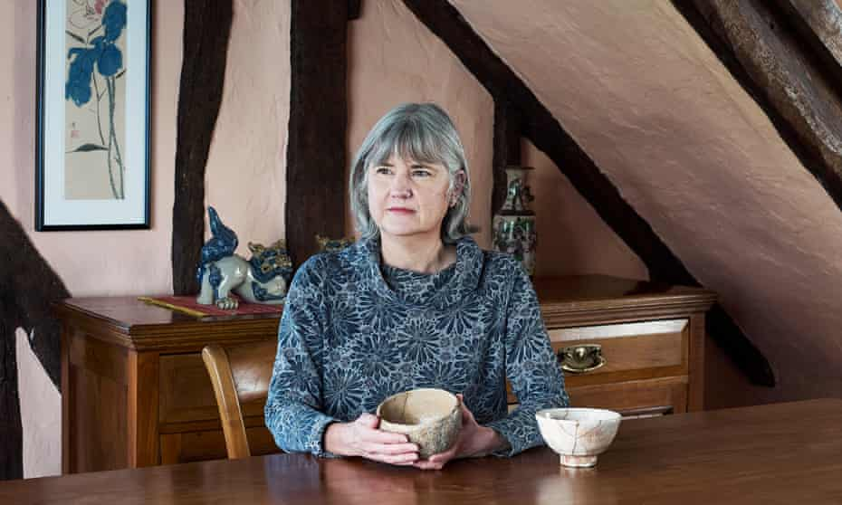 Dr Bonnie Kempske photographed at home in Cambridge, with a repaired bowl