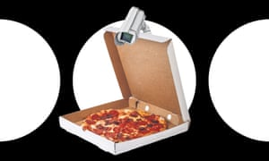 Pizza being watched by a camera