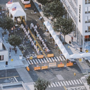 How a street redesigned for voting could look.