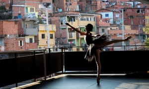 Ballet dancers return to class under precautionary measures after the coronavirus lockdown in São Paulo, Brazil.