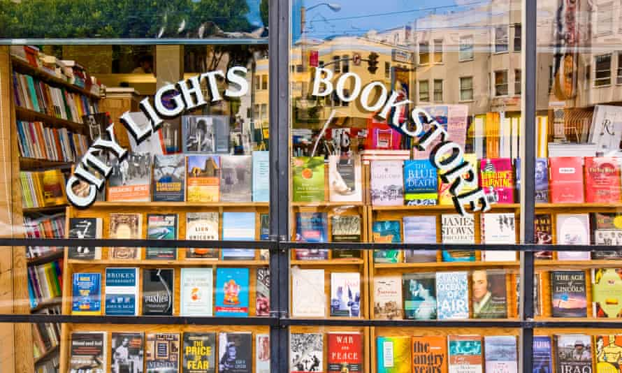 The City Lights Bookstore in the North Beach neighbourhood of San Francisco.