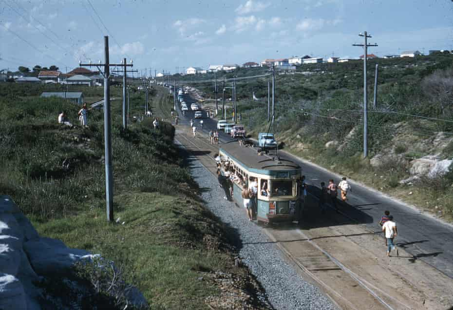The last tram leaves La Perouse for the Randwick workshops in February 1961