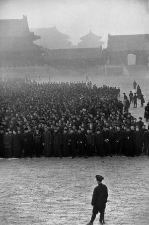 Early in the morning, in the Forbidden City, ten thousand new recruits have gathered to form a Nationalist regiment, Beijing, December 1948