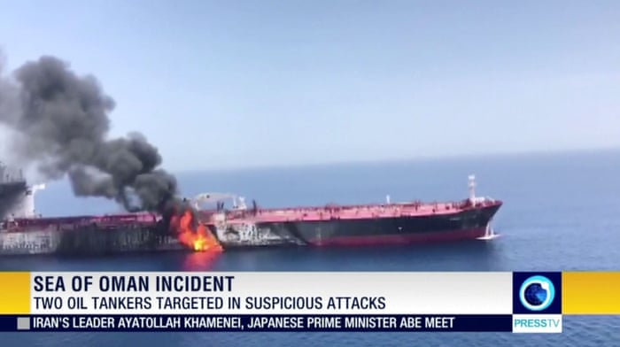 Oil price jumps after Gulf of Oman tanker 'attacks' - as it happened