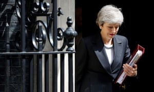 BRITAIN-EU-BREXIT-POLITICSBritain's Prime Minister Theresa May leaves 10 Downing Street in London on May 22, 2019, ahead of the weekly Prime Minister's Questions (PMQs) question and answer session in the House of Commons. - British Prime Minister Theresa May's final bid to salvage her EU divorce deal appeared doomed on Wednesday as pro-Brexit Conservatives and opposition MPs rejected her attempts at a compromise to end months of deadlock. (Photo by Tolga AKMEN / AFP)TOLGA AKMEN/AFP/Getty Images