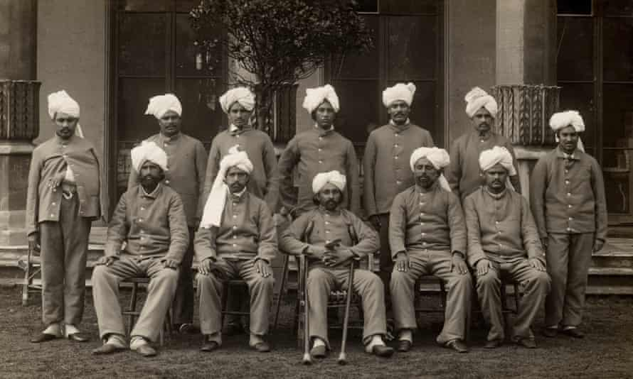 Indian soldiers convalescing in Brighton in 1915.