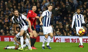 Manchester United's Zlatan Ibrahimovic scores their second goal.