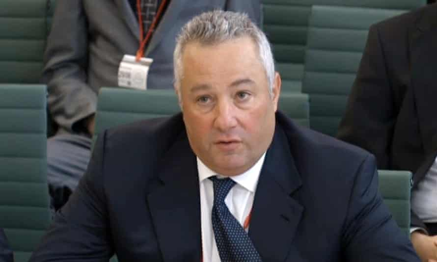 Michael Sherwood appears before MPs at the business, innovation and skills committee in June to discuss the collapse of BHS.