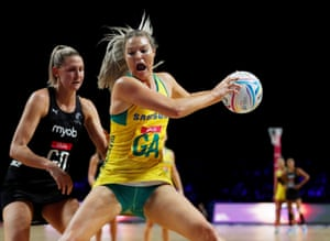 Australia's Gretel Tippett claims possession.