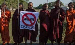 Buddhist monks against Rohingya