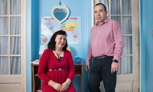 Homa and his wife, muslim foster carers, at their home in Slough