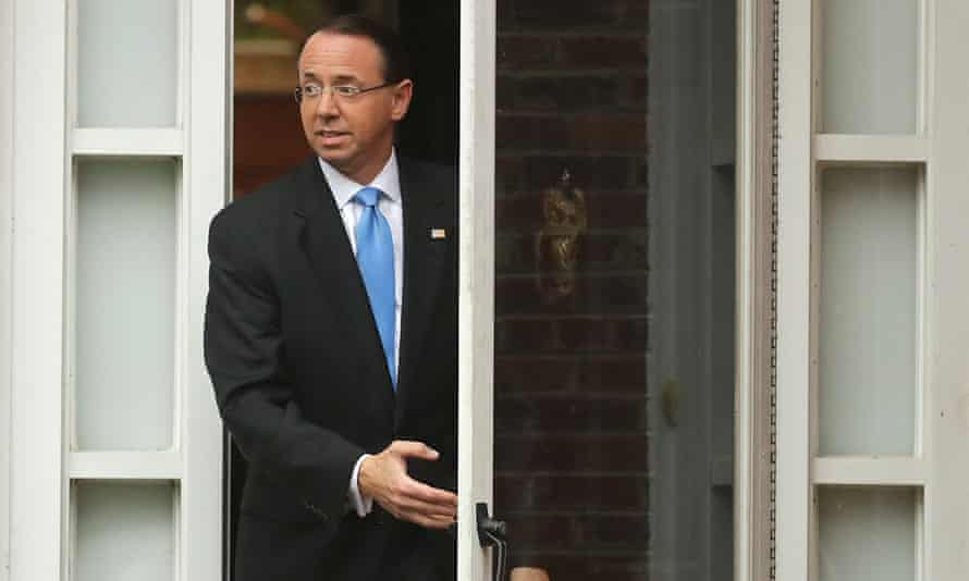 Deputy attorney general Rod Rosenstein oversees the work of special counsel Robert Mueller, who is investigating Russian election interference.
