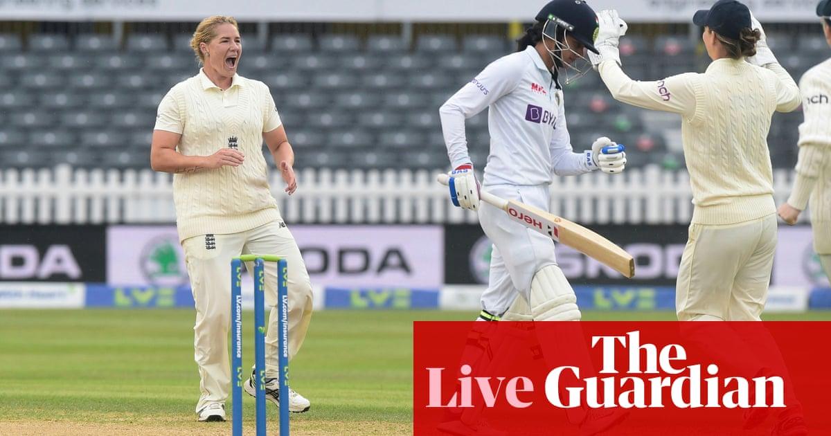 England v India: women's Test match, day four – live!