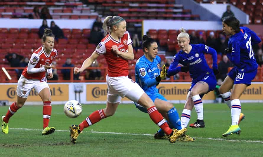 Beth England fires home to open the scoring.