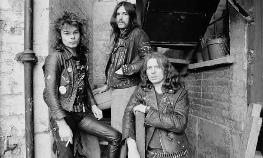 Motörhead in1978, with Eddie Clarke, right, drummer Phil Taylor, left, and Lemmy.