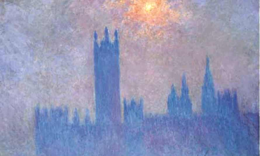 Monet Parliament, London, Effect of Sun in the Fog