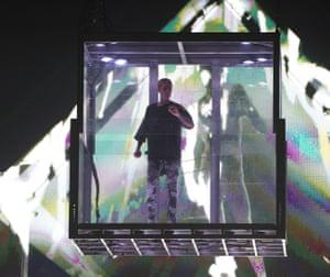 Justin Bieber on stage.