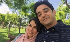 Newsha Tavakoli is from Atlanta, but her husband, Mohammad Esnaashari, is from Iran. They are waiting for a visa to come to the US.