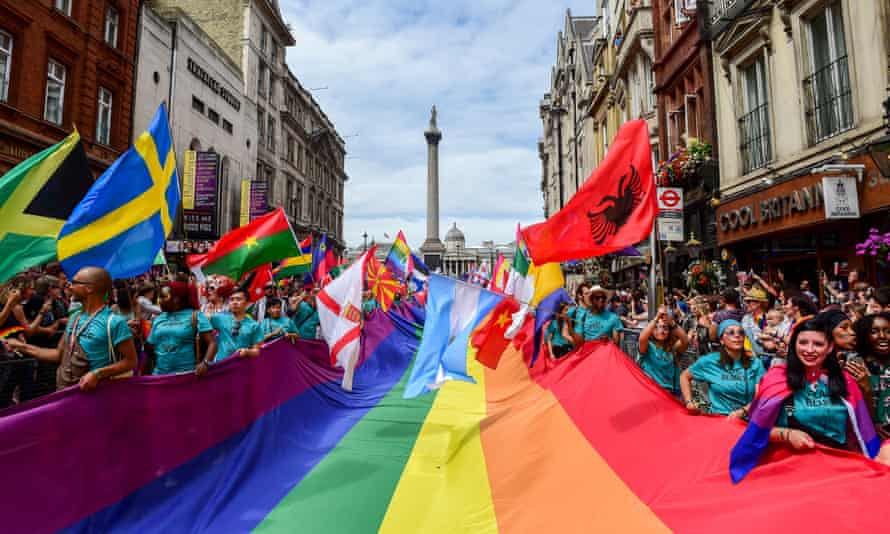 Last year's Pride in London parade