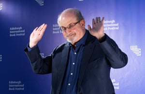 Salman Rushdie, whose Booker prize nominated novel Quichotte retells Don Quixote in present day America.