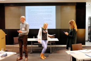 Delegates rehearse poems during a Poetry in Practice workshop at the Guardian Education Centre Reading for pleasure conference 9 November 2018