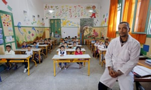 The start of the new school year for teacher Moulay Ismael Lamrani at Oudaya primary school